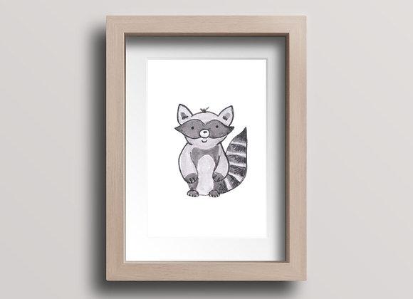 Raccoon- Original Ink Illustration