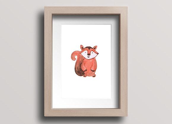 Squirrel- Original Ink Illustration