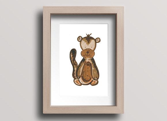 Monkey- Original Ink Illustration