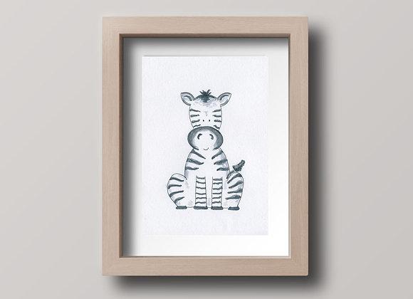 Zebra- Original Ink Illustration