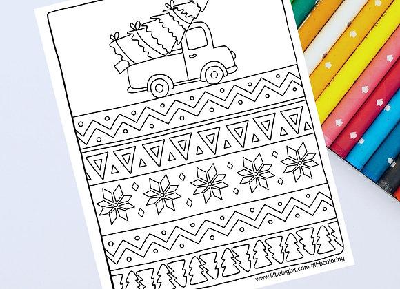 Christmas Coloring Page | Hand drawn printable page
