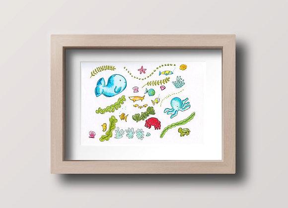 Ocean Party - Original Illustration