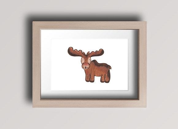 Moose- Original Ink Illustration