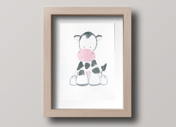 Cow- Original Watercolor Painting