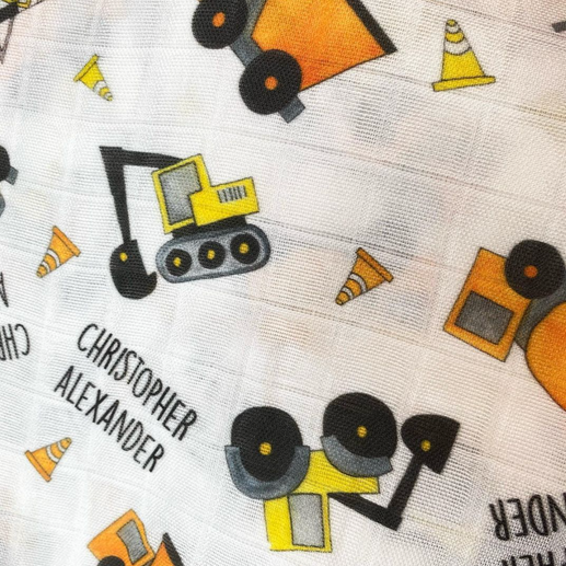 Construction vechicles swaddle