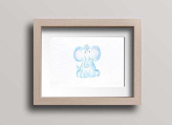 Elephant- Original Watercolor Painting