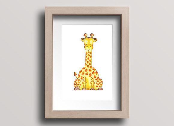 Giraffe- Original Ink Illustration