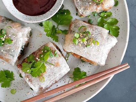 Air-fried, plant-based dumplings