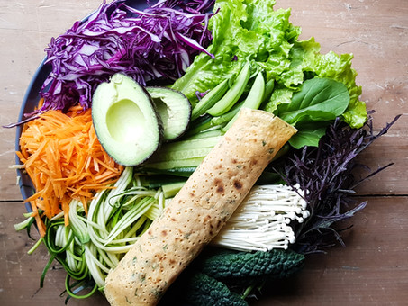 Super easy, herb and garlic wraps (gluten free)
