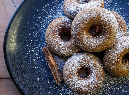 Cinnamon donuts, I never thought I'd make these...