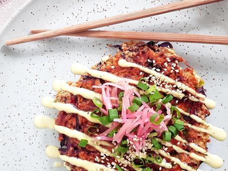 Vegan Okonomiyaki with Oyster Mushrooms
