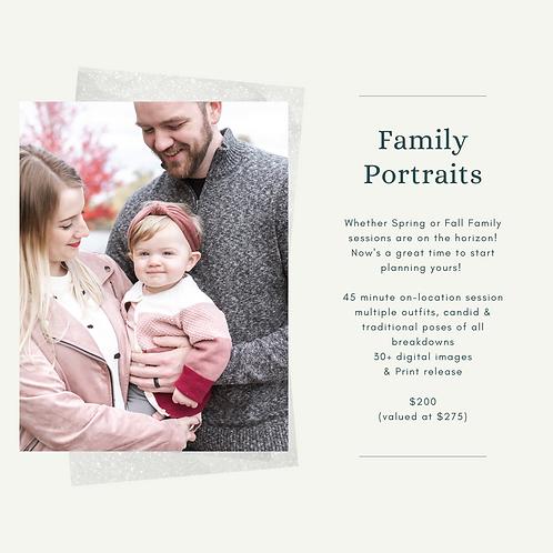 Family Portrait Gift Certificate