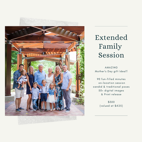 Extended Family Mini Session Gift Certificate