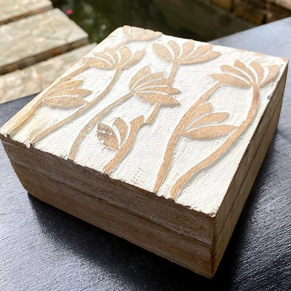Lily Flower Jewellery Box