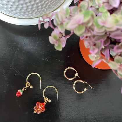 Strawberry Shortcake Earrings/ Charms