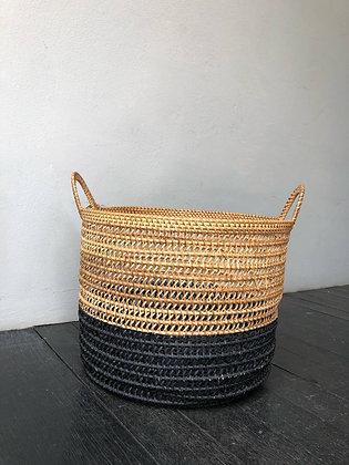 Black Rattan Basket