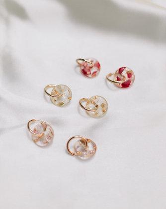 Hua (花 ; Flower) Earrings