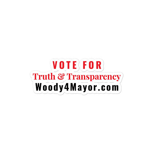 VOTE FOR WOODY Stickers