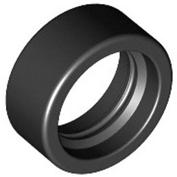 Tire 14mm D. x 6mm Solid Smooth