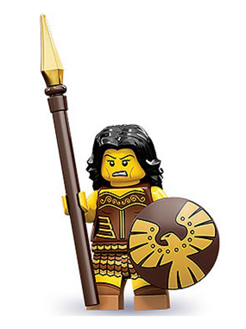 Lego Minifigür Seri 10 Warrior Woman No:4