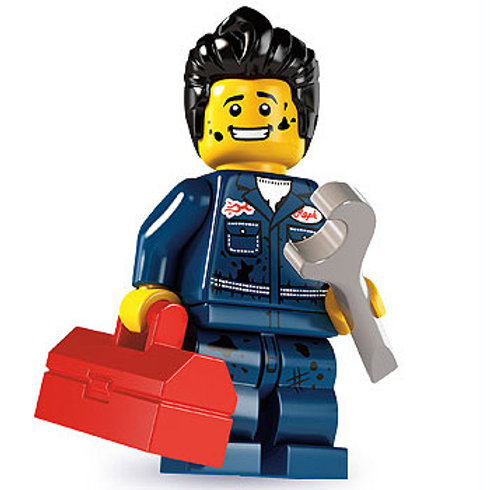 Lego Minifigür Seri 6 Mechanic
