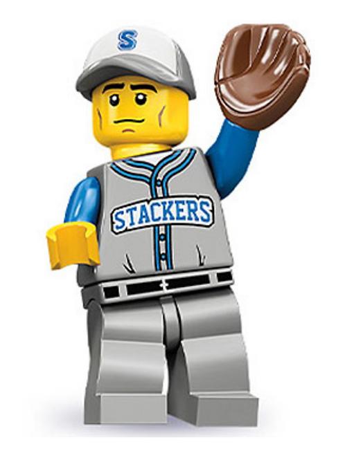 Lego Minifigür Seri 10 Baseball Fielder No:13
