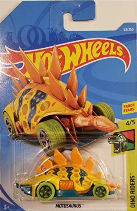 Hot Wheels Motosaurus (Yellow) 2019 Dino Riders 4/5