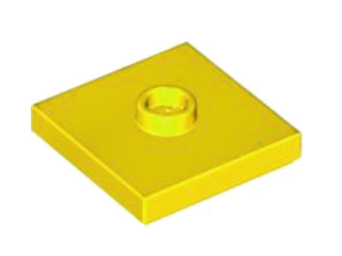 Part 87580 Plate, Modified 2 x 2 with Groove and 1 Stud in Center (Jumper)
