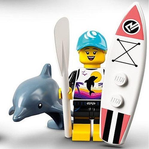 Lego Minifigür Seri 21 - 1 Paddle Surfer