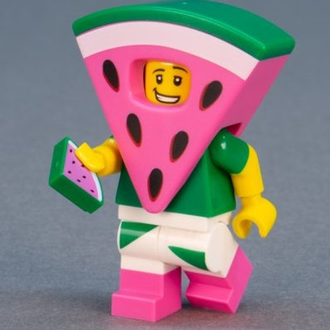 Lego Movie 2 Minifigure Series No:8 Watermelon Dude