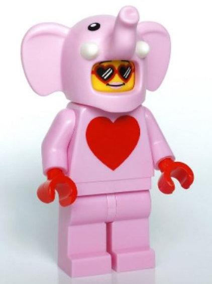 Orijinal Lego Minifigür Love Elephant