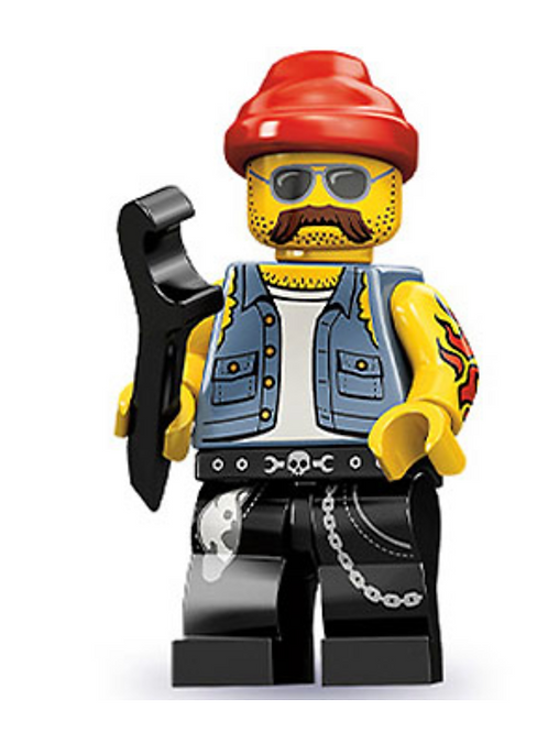 Lego Minifigür Seri 10 Motorcycle Mechanic No:16