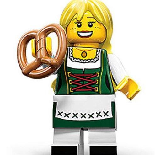 Lego Minifigür Seri 11 Pretzel Girl No:3