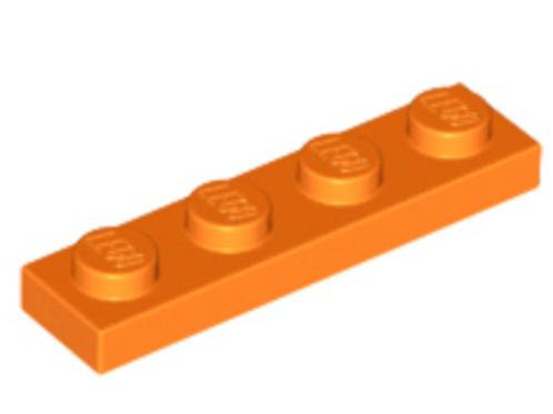 Part 3710 Plate 1 x 4 Orange