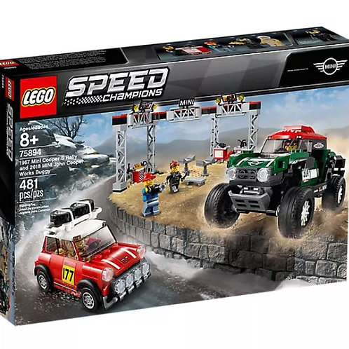 Lego Speed 75894 1967 Mini Cooper S Rally and 2018 MINI John Cooper Works Buggy