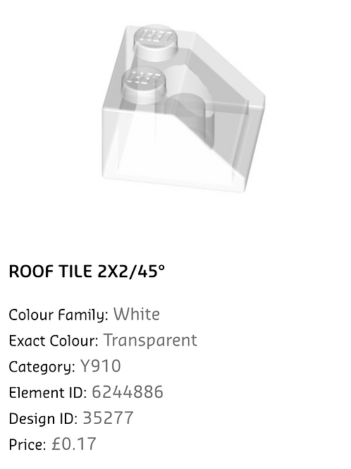 Roof Tile 2x2/45