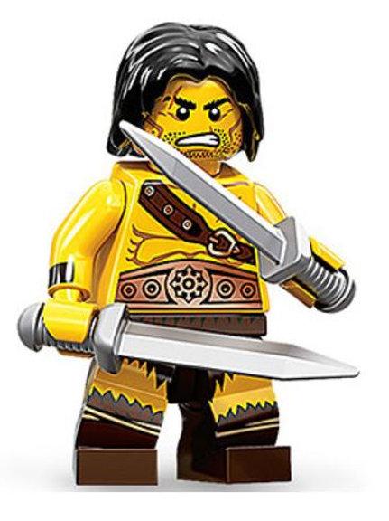 Lego Minifigür Seri 11 Barbarian No : 1