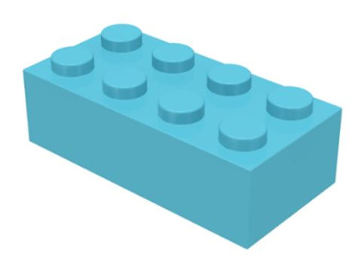 Part 3001 Brick 2 x 4 Medium Azure