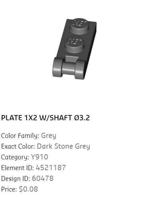 Plate 1x2 W/Shaft 3.2