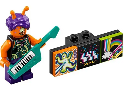 Lego Vidiyo Alien Keytarist Bandmates Series 1 - 9