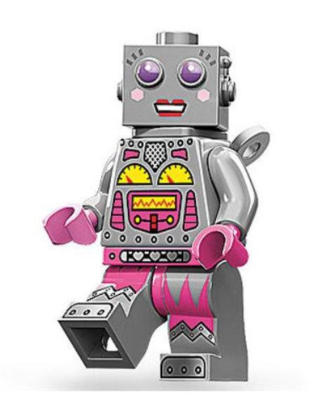 Lego Minifigür Seri 11 Lady Robot No:16