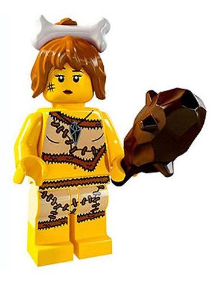 Lego Minifigür Seri 5 Cave Woman No:5