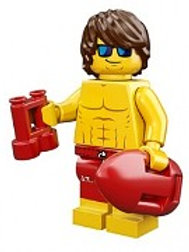 Lego Minifigür Seri 12 Lifeguard Guy