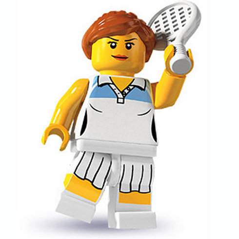Lego Minifigür Seri 3 Tennis Player No:10