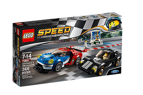 Lego Speed 75881 2016 Ford GT & 1966 Ford GT40