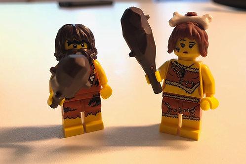 Mağara Adamı ve Mağara Kadını Minifigür Seti