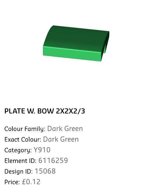 Plate W.Bow 2x2x2/3