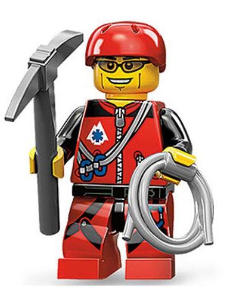 Lego Minifigür Seri 11 Mountain Climber No:9