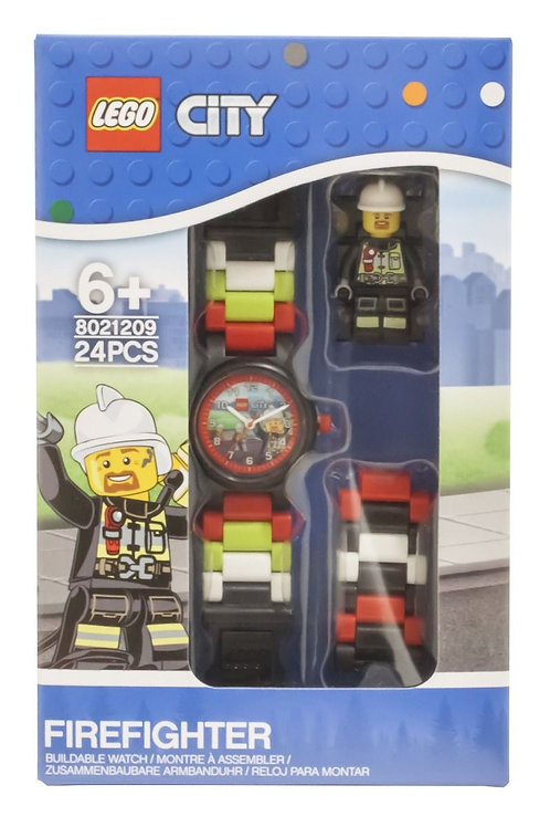 LEGO City 8021209 Firefighter Minifigure Link Buildable Watch
