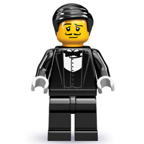 Lego Minifigür Seri 9 Waiter No:1
